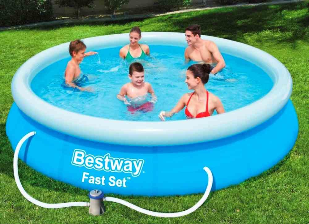Bestway Fast Set Pool Set mit Filterpumpe